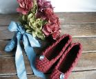 crochet slippers bridesmaid gift