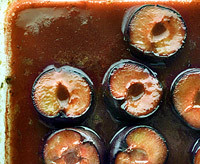Craft Bits news item about spiced baked plums recipe