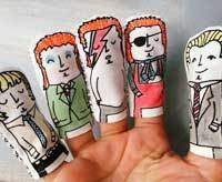 david bowie finger puppet