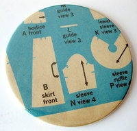 sewing pattern coaster