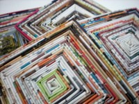 upcycle magazine coasters