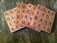 scrabble upcycle coaster