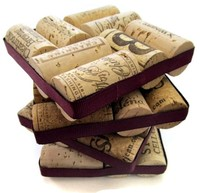 wine cork upcycle coasters