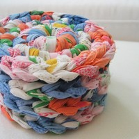 rag rug scrap fabric coaster