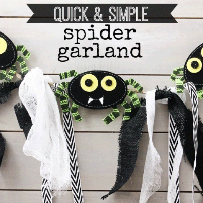 halloween crafts featuring bunting
