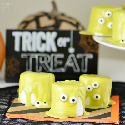 halloween crafts featuring edible monster decorations