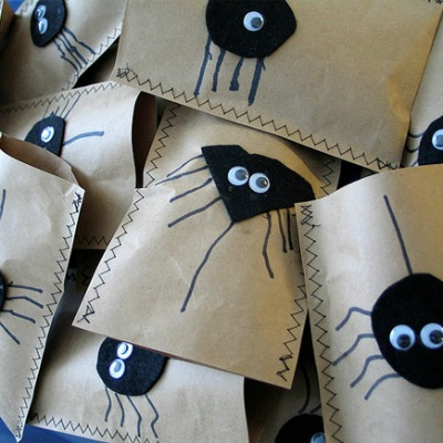 Halloween crafts featuring DIY treat bags