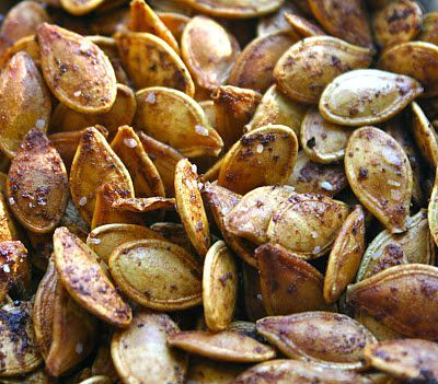 Roasted Pumpkin Seeds with Worcestershire Sauce