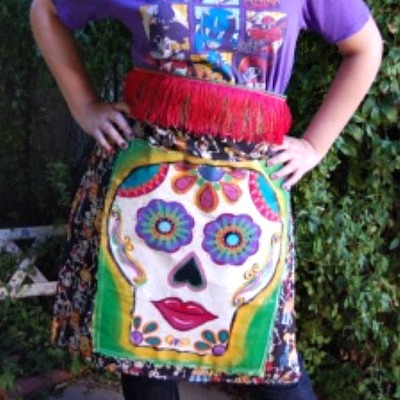 Day of the Dead crafts apron
