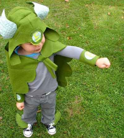 handmade kids halloween superhero costume idea