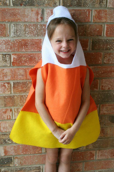 handmade kids candy corn costume