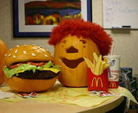 Happy Meal pumpkin carving idea