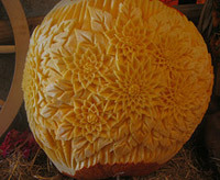 flowers, pumpkin carving idea