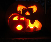 monster pumpkin carving idea