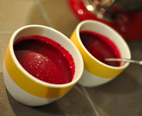 halloween food, blood soup