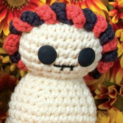 Dead of the Dead crochet skeleton