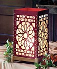 paper scroll work lamp from ten thousand villages