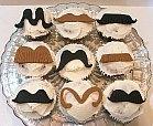 fondant moustache cupcakes
