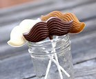 moustache lollipops