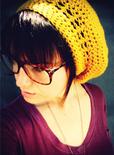 mustard knit hat