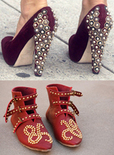 studded pumps and booties