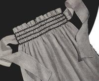 an apron made of seersucker