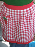 vintage-style apron made from gingham