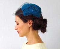 50s vintage blue hat