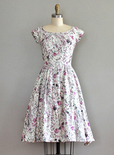 50s vintage patterned dress