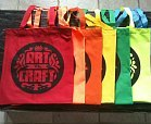 tote bag with craft fair logo