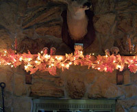 Thanksgiving decorating idea using free printable banner swag