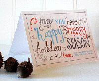 Free printable holiday card from Mufn Inc