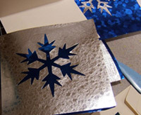 easy handmade holiday card ideas, snowflake card