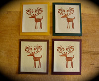 handmade christmas card idea using rubber stamping