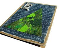 handmade holiday card idea featuring splatter art