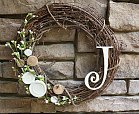 newlywed monogram wreath