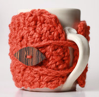 crocheted coffee sleeve