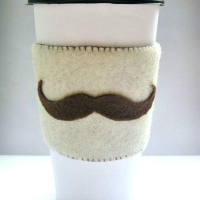 john watson moustache coffee cozy