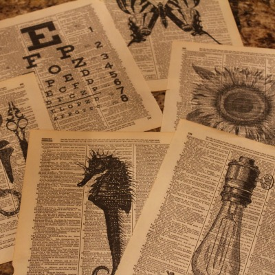 Sherlock Holmes style newspaper prints