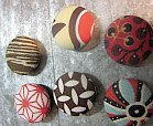 fabric-covered button magnet holiday gift