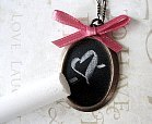chalkboard necklace Christmas gift