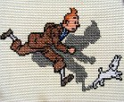 tintin and snowy cross stitch