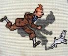tintin and snowy cross stitch