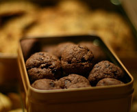 Homemade gift ideas, holiday recipe for chocolate cookies