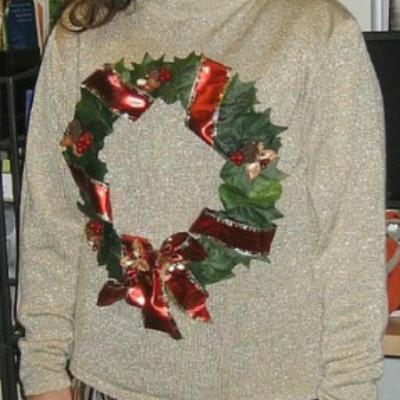 Christmas wreath sweater