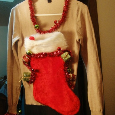 christmas stocking sweater