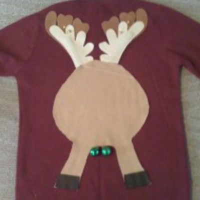 reindeer butt sweater