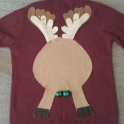 reindeer butt sweater