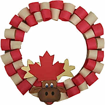 moose head wreath