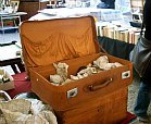 vintage suitcase at craft fair